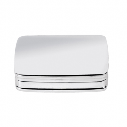 Sterling Silver Plain Rectangular Pillbox